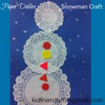 Paper Doilies Snowman Craft – A Winter Craft