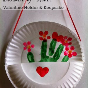 Valentine hand print craft