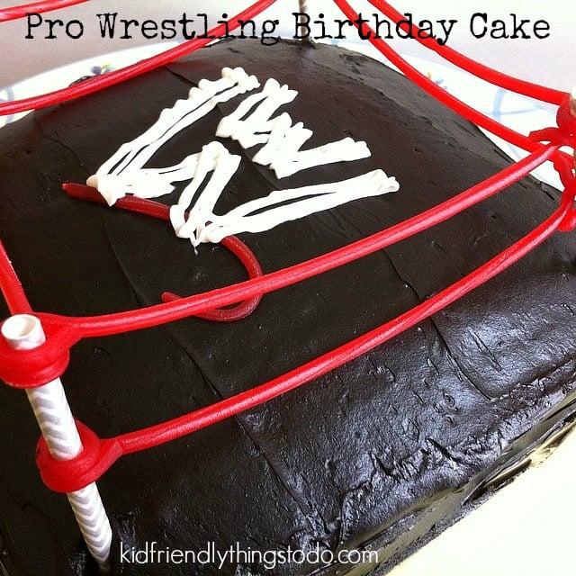 DIY Pro Wrestling Birthday Cake