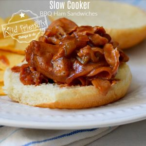 Slow Cooker Chipped Ham Sandwiches