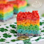 rainbow party dessert Rice Krispies treat