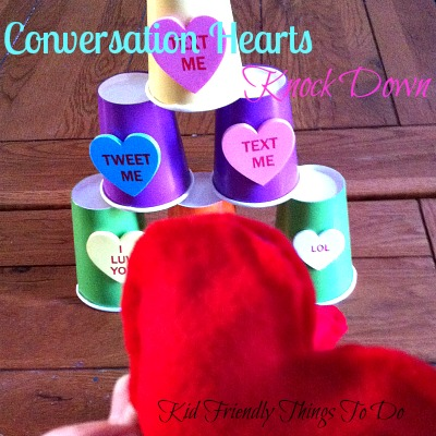 Valentine Conversation Heart Knock Down