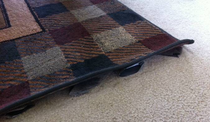 how to fix curling rug edges