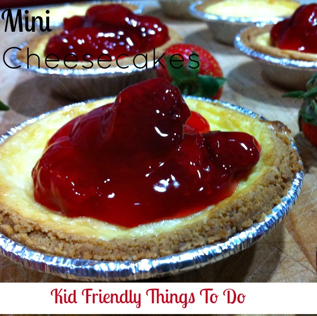 Mini Cheesecakes With  Fruit Filling Topping