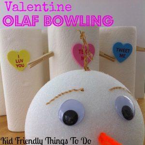 Olaf Bowling Valentine Game