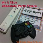 Wii and Xbox Goody Bag Chocolates! Great idea for a gaming birthday party!