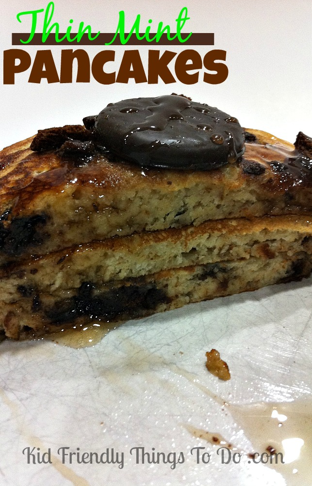 Thin Mint Pancakes - Holy Cow!