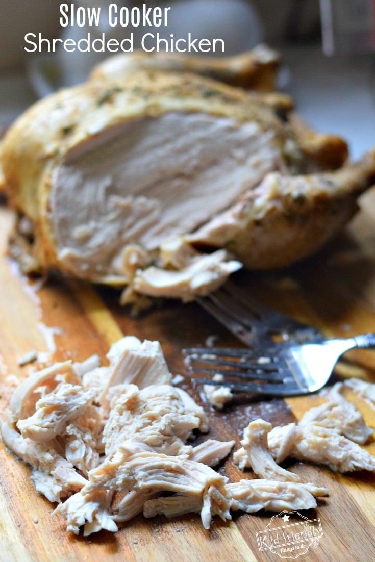 crock pot shredded chicken recipe