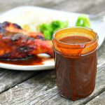 Root Beer Barbecue Sauce on table