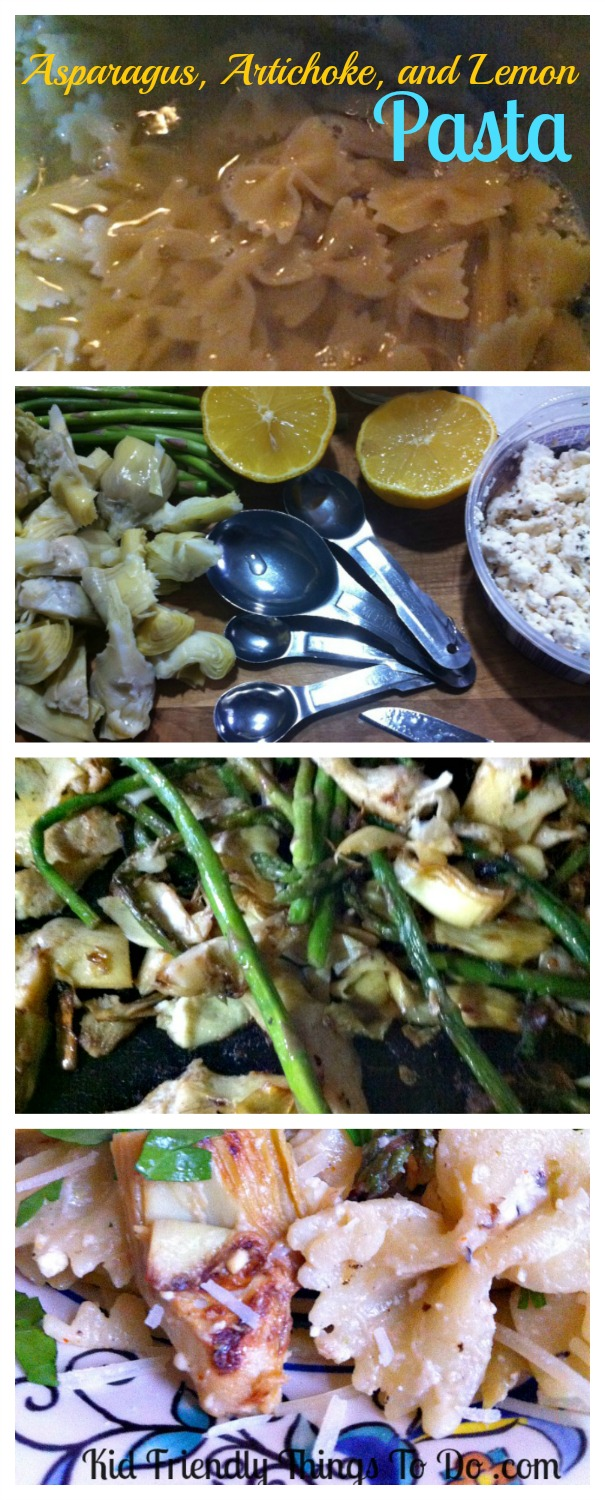 Artichoke, Asparagus, and Lemon Pasta