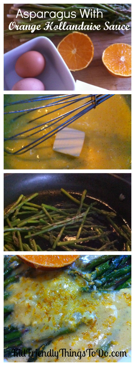 Sauteed Asparagus With Easy Orange Hollandaise Sauce Recipe - You won't believe how simple this orange sauce is. And, it's incredible!