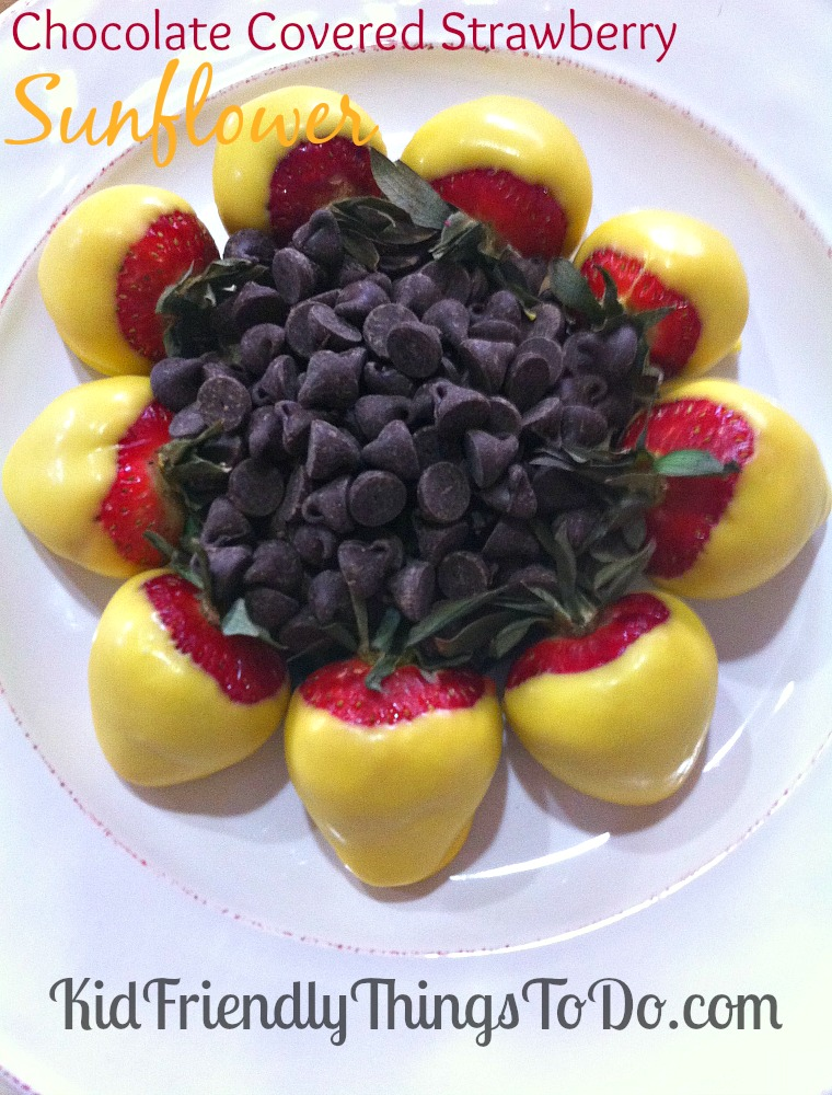 Chocolate Covered Strawberry Sunflower - This edible flower is perfect for Mother's Day