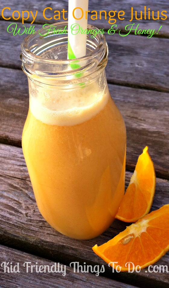 Copy Cat Orange Julius with fresh oranges! Healthy, refreshing, amazing!