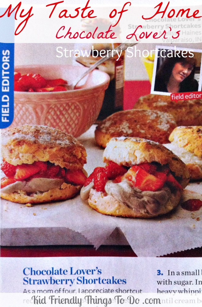 Taste of Home Chocolate Lovers Strawberry Shortcake Recipe