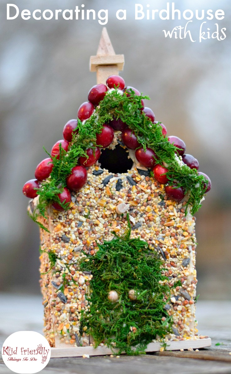 decorating birdhouses with kids is fun and easy to do i have a simple diy - Bird House Christmas Decoration