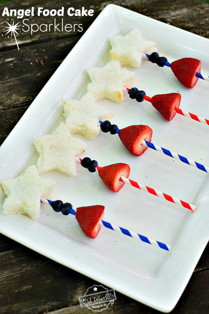Red White and Blue Snacks for 4th of July