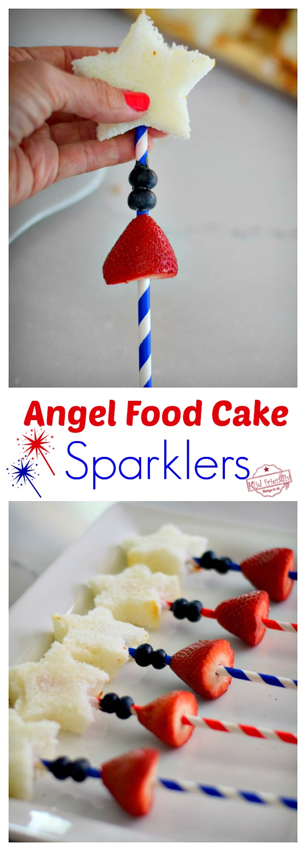 Fun Red, white and blue snacks for Patriotic treats