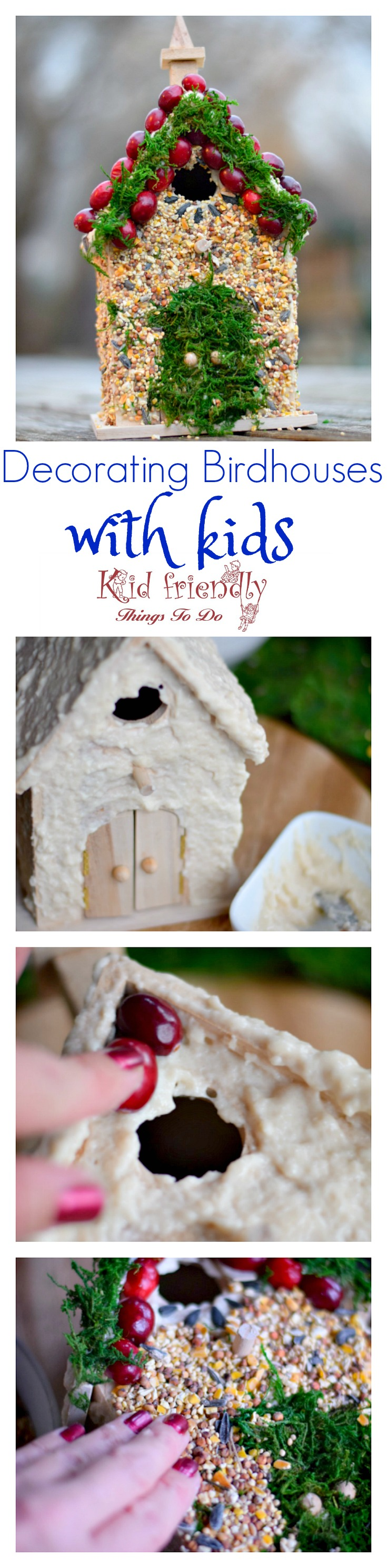 Decorating birdhouses with edible bird seed glue craft decorating birdhouses with kids is fun and easy to do i have a simple diy forumfinder Gallery
