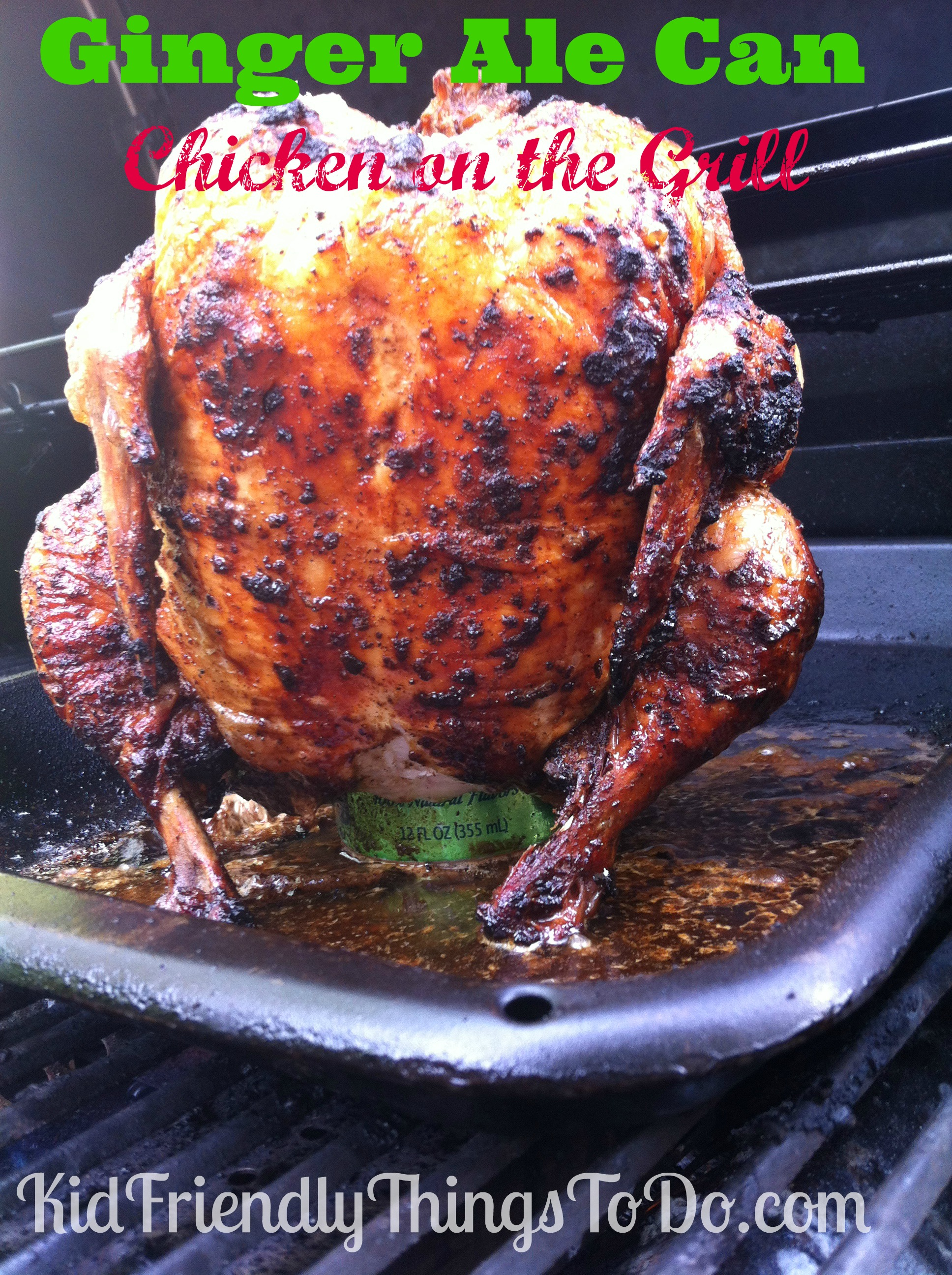 Ginger Ale Can Chicken on the Grill. What a cool idea! Love the glaze. Yum!