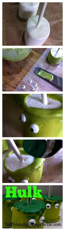 The Hulk Jumbo Marshmallow Pops