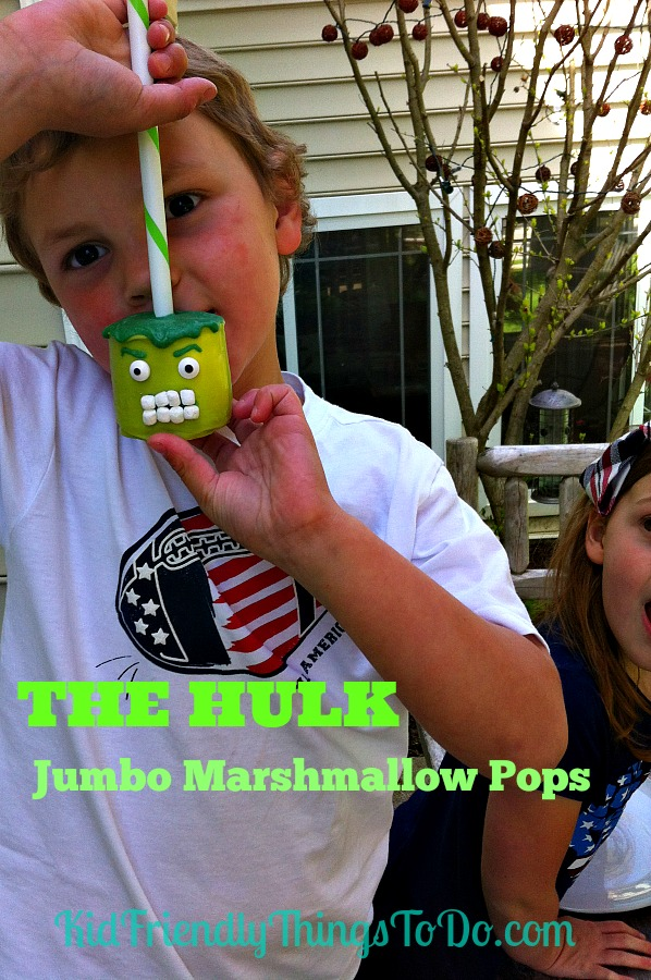 The Hulk Jumbo Marshmallow Pops - perfect for Avengers Parties