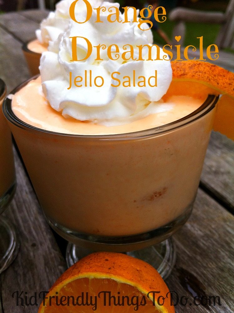Orange Dreamsicle Jello Salad Recipe - Great Dessert to ... Orange Jello