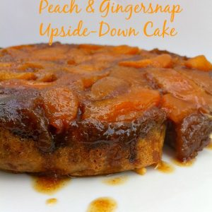 Peach & Gingersnap Cookie Upside-Down Slow Cooker Cake