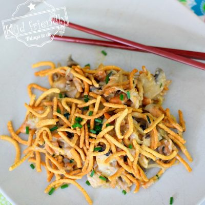Cashew Chicken Casserole with Mushroom Soup