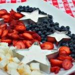 No Bake Patriotic Dessert Fruit Tray