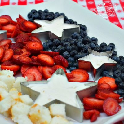 No Bake Patriotic Dessert Fruit Tray