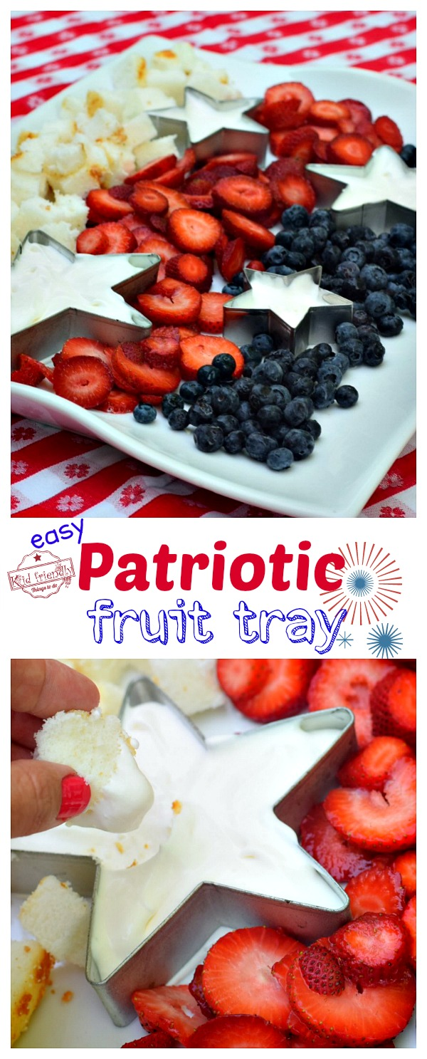 Healthy Red White and Blue Dessert