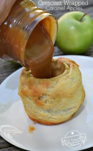 Caramel Filled Baked Apple Wrapped In A Crescent Roll