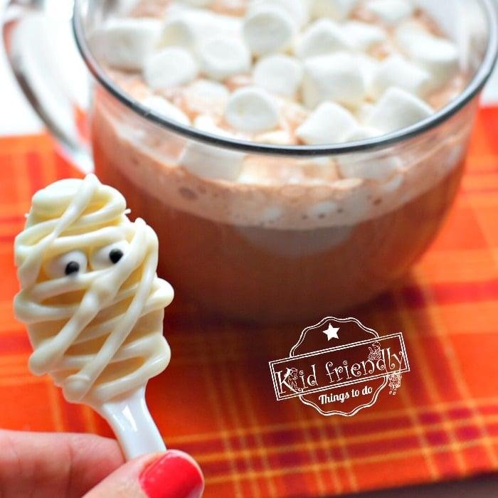 Chocolate Mummy Spoons Cute Halloween Treats