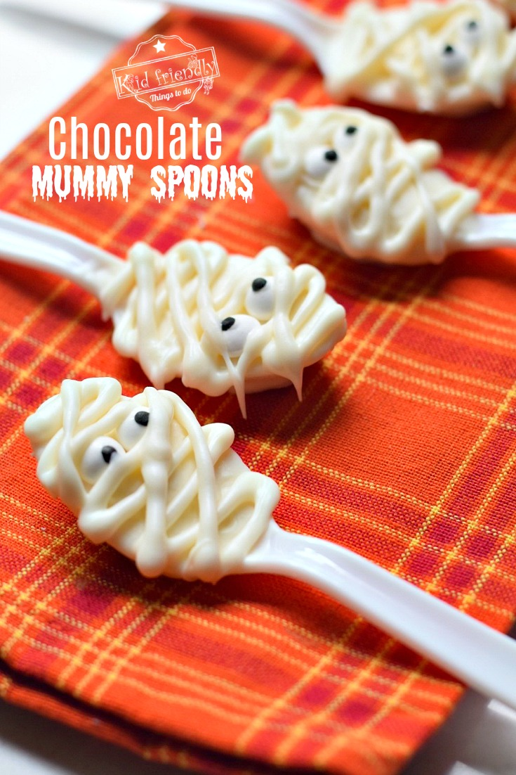 Fast and Easy Halloween Treats Mummy Spoons