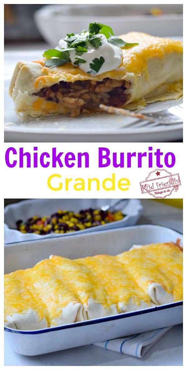 Chicken Burrito with rice recipe