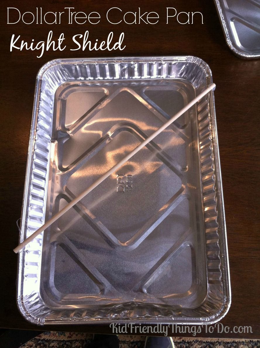 Easy Dollar Tree Cake Pan Knight Shield Craft Kid