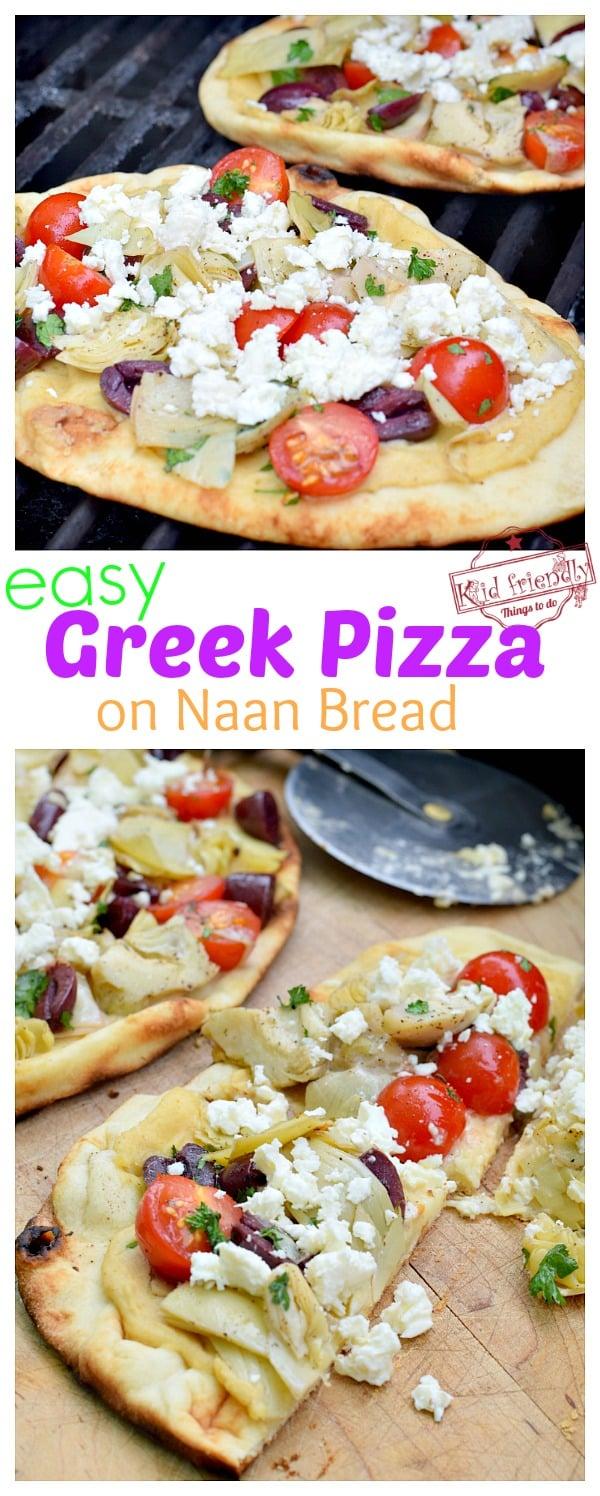 Greek Pizza grilled