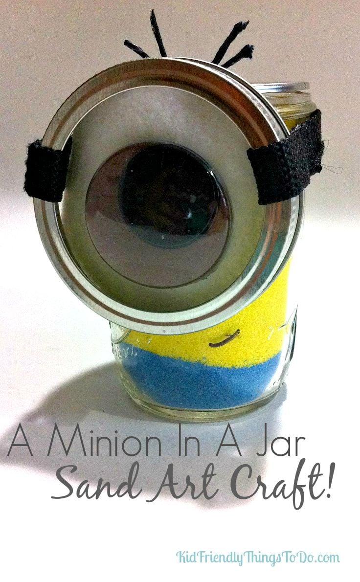 DIY Minion In A Jar Sand Art Craft For Kids