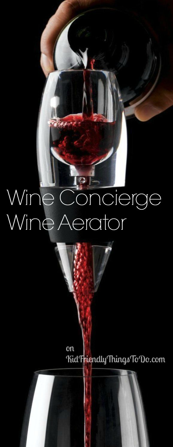 So, what the heck is an aerator, anyway?! Wine Concierge Wine Aerator with Filter & Stand Review - perfect for Christmas and birthday gifts!