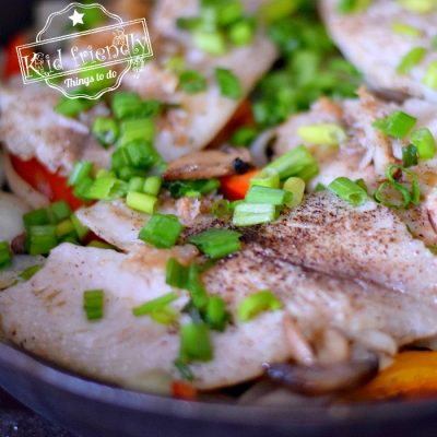 cast iron pan fried fish fillet meal