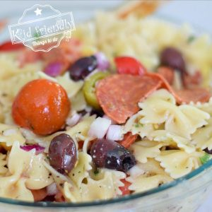 Easy Greek Pasta Salad Recipe {So Good!} | Kid Friendly Things To Do