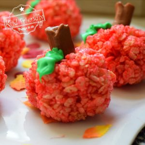 Back to school treat - apple rice krispies