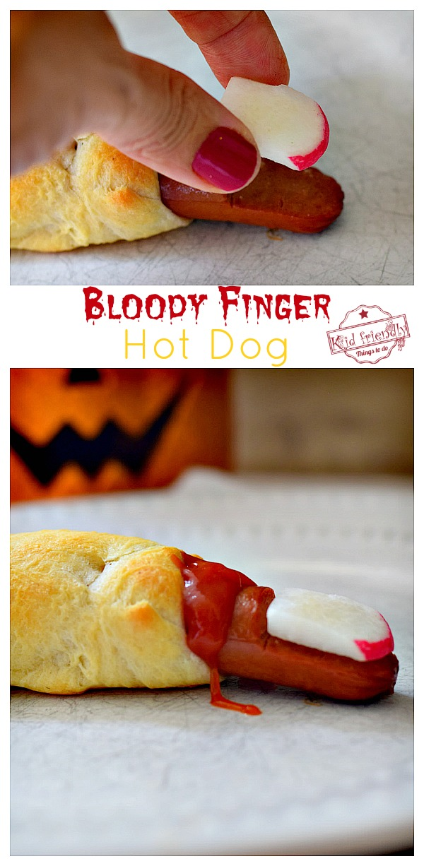 Bloody Finger Halloween Hot Dogs
