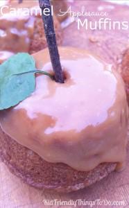 Easy Caramel Applesauce Spice Muffins