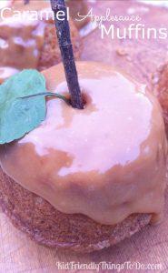 caramel applesauce muffins