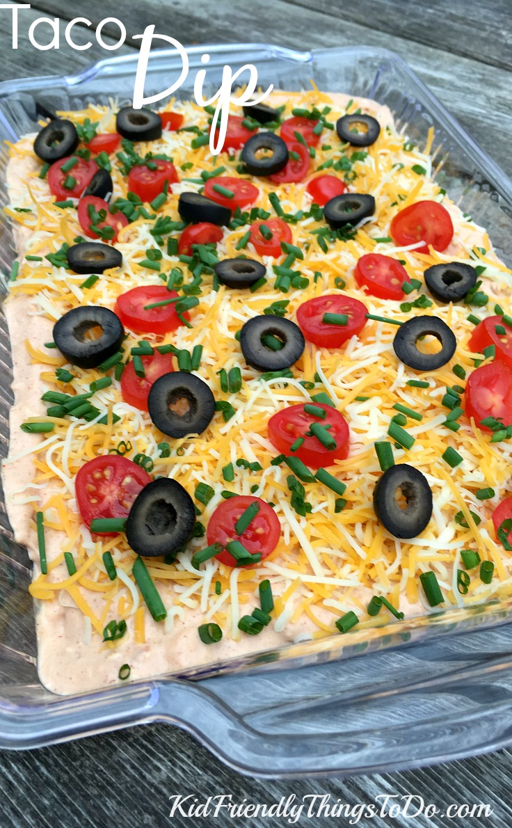 Easy and delicious taco dip for any occasion! - KidFriendlyThingsToDo.com