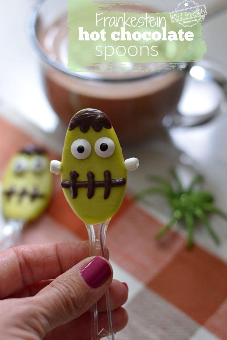 Frankenstein Hot Chocolate Spoons