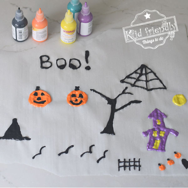 making window clings with kids