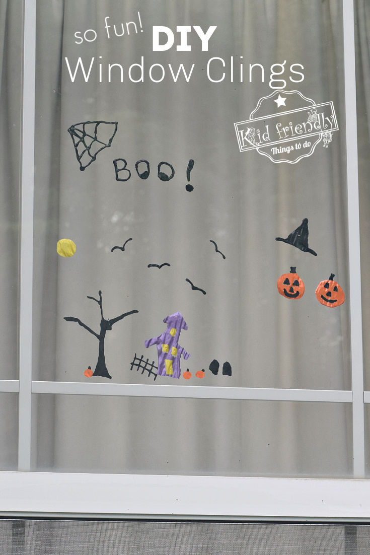 Halloween DIY Window Clings {so easy and fun!} | Kid Friendly Things To Do
