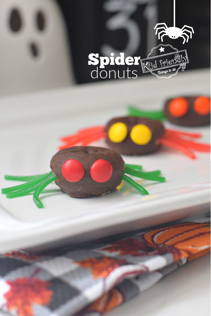 Spider Donuts for Halloween